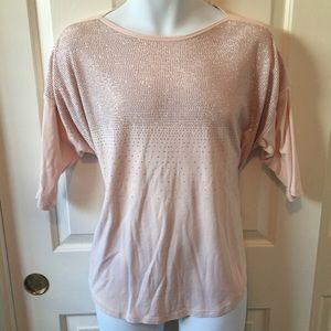 Tops - ❤️💥 Stoned 3/4 length top in Light Pink - Size 1X